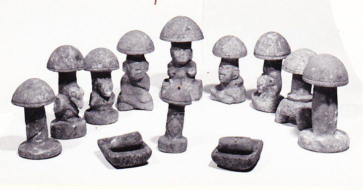 PDF Article: 1961 miniature mushroom stones from guatemala